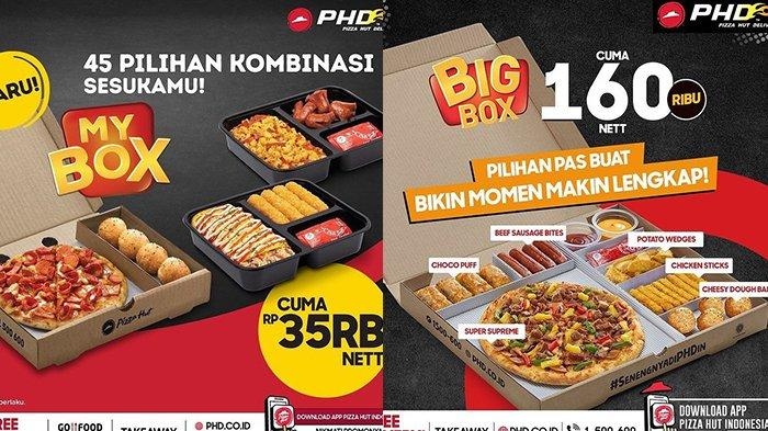 PROMO PHD Pizza Hut Delivery Senin 14 Juni 2021, Double Box Rp 99 Ribuan, My Box Cuma Rp 35 Ribuan