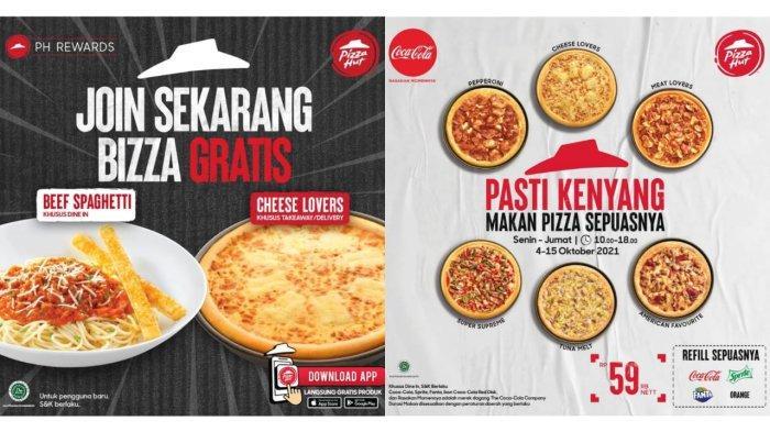 Promo Pizza Hut Besok 7 Oktober 2021, Makan Varian Pizza Pasti Kenyang Hanya Rp 59.000