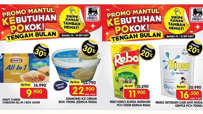 PROMO Superindo Tengah Bulan 14-15 September 2021: Rinso Cair Rp16.500, Kraft Cheddar Diskon 30%