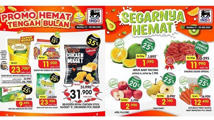 Hanya Hari Ini, PROMO Superindo 20 Mei 2021: Chicken Nugget Diskon 35%, Buah, Daging, Deterjen Hemat