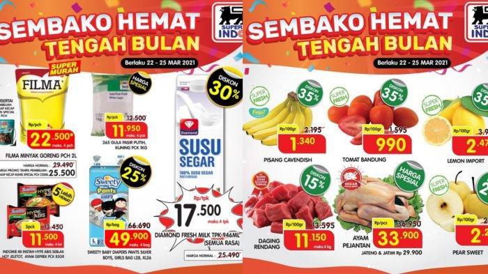 Promo Superindo 23 Maret 2021, Minyak Goreng 2L Rp22.500, Sirup Rp8 Ribuan, Fresh Milk Diskon 30%