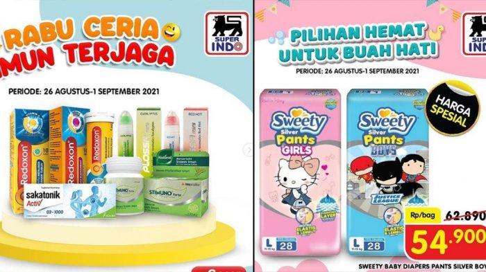 PROMO SUPERINDO 1 September 2021, Suplemen Harga Hemat, Diapers Diskon 30%, Buah Segar Diskon 20%