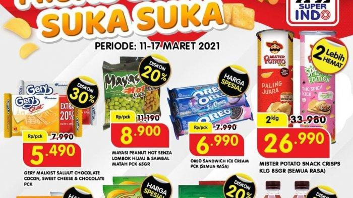 Promo Superindo Rabu 17 Maret 2021, Cemilan Diskon 30%, Daging Ayam Rp3185/100gr, Apel Rp3490/100gr