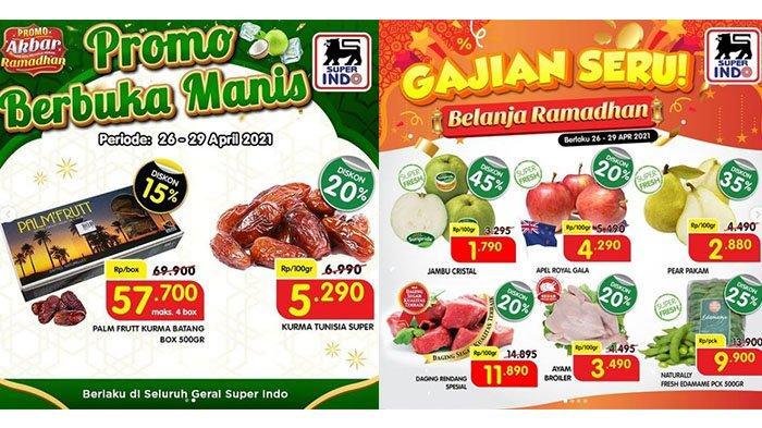 Promo Superindo Kamis 29 April 2021, Daging dan Kurma Diskon 20 Persen, Biskuit Beli 1 Gratis 1