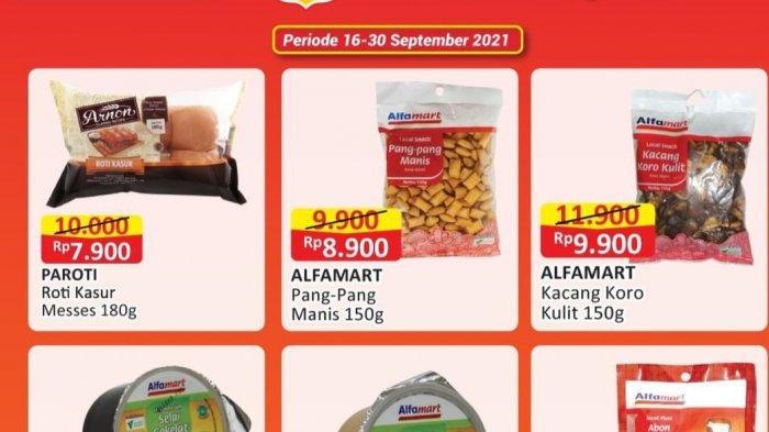 PROMO JSM ALFAMART 24-26 September 2021, Selai Cokelat Rp10.900, Mi Instan Rp10.000/5pcs, DISKON 50%