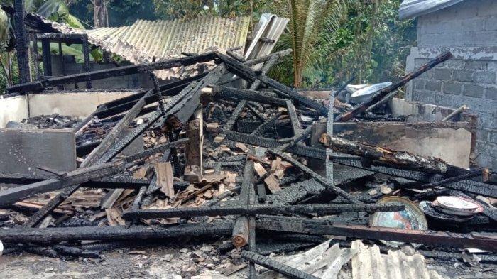 Rumah Semi Permanen Sudiarta di Bunut Bolong Jembrana Bali Ludes Dilalap Si Jago Merah