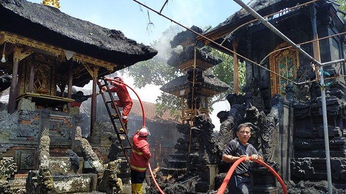 Kebakaran Pura Dang Kahyangan Manik Api, Diduga Api Berasal dari Pembakaran Belukar Kering