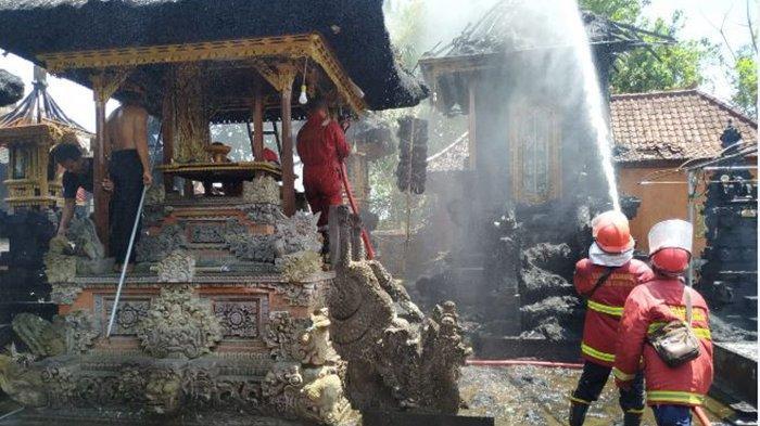 Pura Dang Kahyangan Manik Api Terbakar, Cuaca Panas dan Hembusan Angin Jadi Kendala Pemadaman