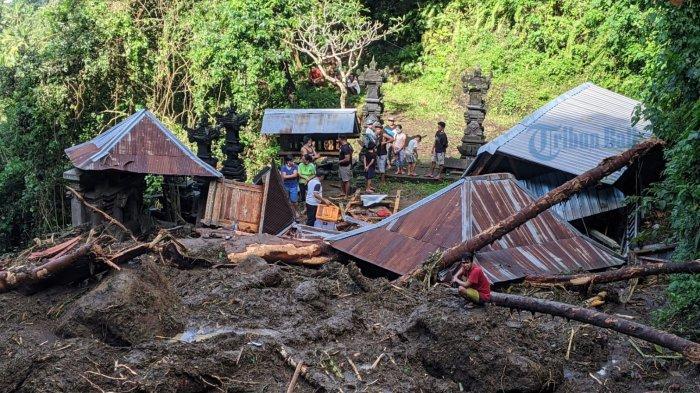 Biaya Perbaikan Pura Manik Mas Klungkung 1,2 Miliar, Dirusak Banjir Bandang, Pengempon Bakal Urunan