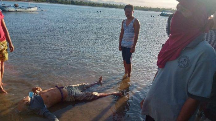 SutamaDiduga Tewas Tenggelam Saat Memancing di Pantai Gunung Pemuteran