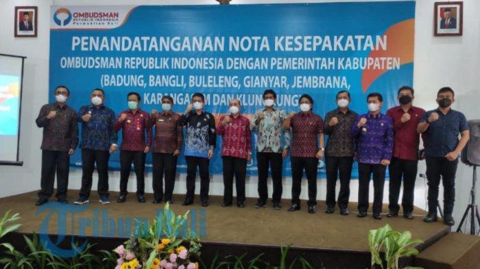 Tingkatkan Kualitas Pelayanan Publik, 9 Pemkab/Pemkot se-Bali Tandatangani MoU dengan Ombudsman RI