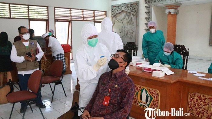 113 Pegawai Setda Tabanan Dites, Screening Awal Kasus Positif Covid-19 agar Tak Menyebar