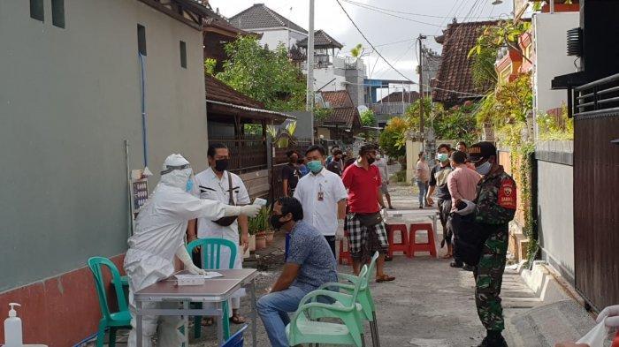 80 Warga Perumahan Pondok Galeria Denpasar Jalani Rapid Test, Dua Orang Reaktif