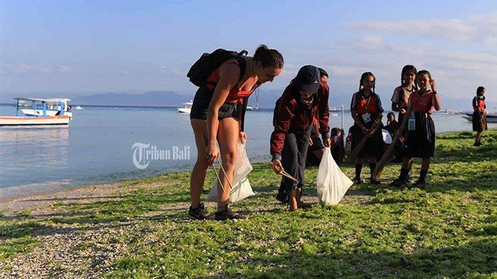 Hari Pertama Nusa Penida Festival, Ratusan Warga Bersihkan Pantai dan Transplantasi Terumbu Karang