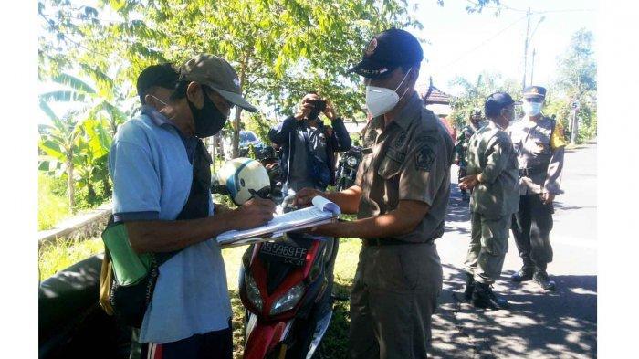Masih Membandel, Sembilan Orang Dijaring Operasi Tertib Masker di Jembrana Bali