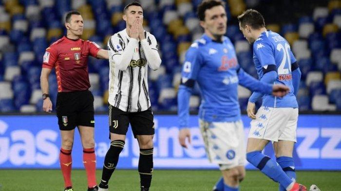 Napoli Vs Juventus, Ronaldo Gagal Cetak Gol di Stadion Diego Maradona, Juve Pulang Tangan Hampa
