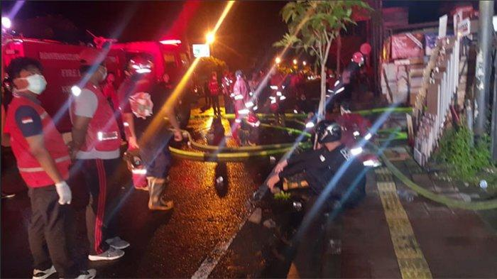 UPDATE: Kebakaran Ruko The Bali House di Jalan Mahendradatta Denpasar, Sepasang Suami Istri Terluka