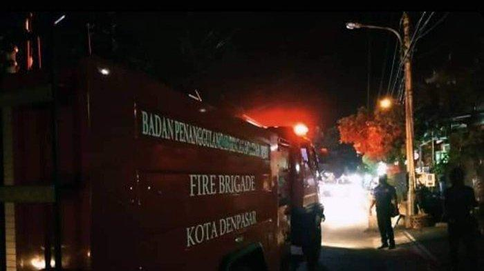 Tabung Gas 'Melon' Bocor dan Mesin Water Heater Terbakar, Nyaris Bakar Rumah Warga di Denpasar