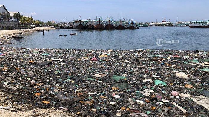 Kawasan Reklamasi Pelabuhan Benoa Penuh Sampah Plastik dan Kaleng