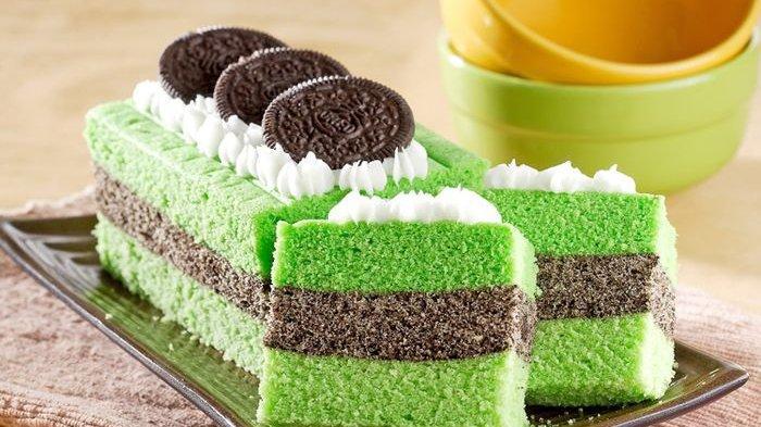 Camilan Lembut yang Bisa Dibuat di Rumah, Resep Cake Pandan Oreo
