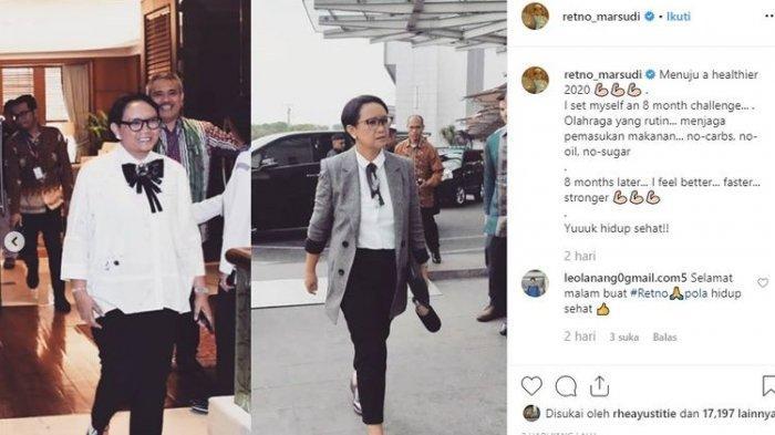 Menteri Retno Marsudi Kini Lebih Langsing, Ternyata Jalani Diet Karbo, Ini 4 Tips Keberhasilannya