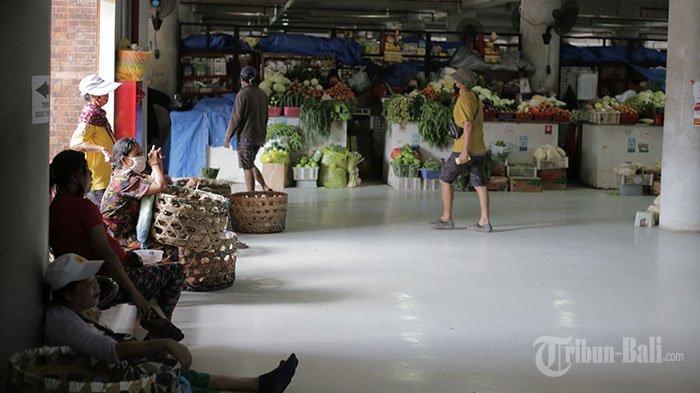 Uji Coba PeduliLindungi di Pasar Badung Denpasar Tinggal Menunggu QR Code