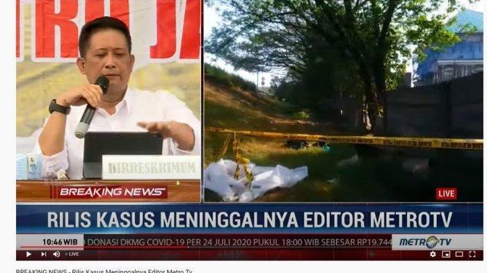 Polisi Menduga Kuat Editor Metro TV Yodi Prabowo Bunuh Diri, Ini Video Rilis Lengkapnya