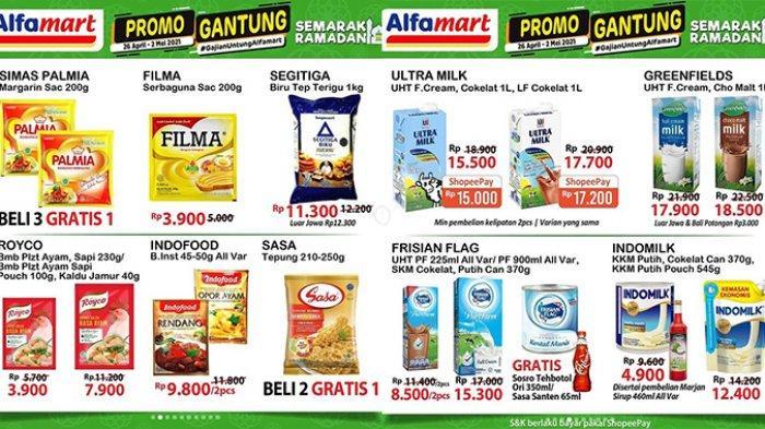 Promo JSM Alfamart Hari Ini 2 Mei 2021, Margarin, Es Krim Beli 3 Gratis 1, Beli Susu Gratis Sirup,