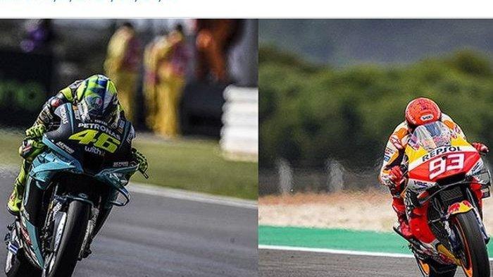 Rossi dan Marquez Sempat Disemprot Pembalap Ducati di FP2 MotoGP Italia 2021