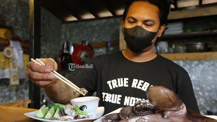 Menu Unik di Warung Diteba Jeger Denpasar, Perpaduan Bali dan Barat, Paling Favorit Rujak Gurita