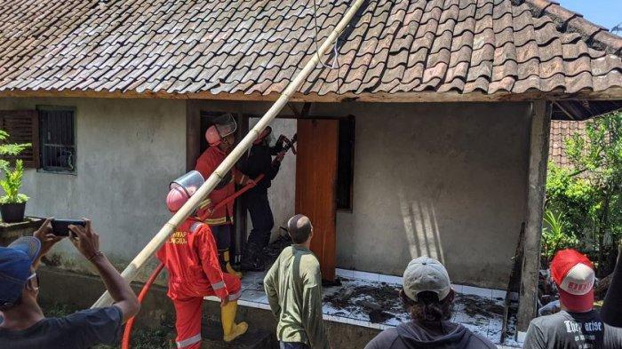 Rumah Warga Terbakar di Desa Aan Klungkung, Warga Bunyikan Kulkul Bulus