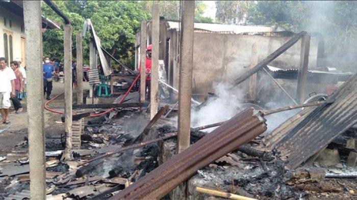 Rumah Ni Made Sriani di Desa Tianyar Karangasem Ludes Terbakar, Diduga Akibat Korsleting Listrik