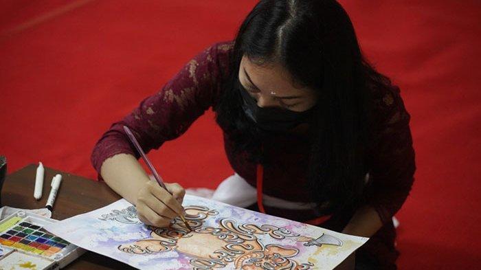 Lomba Baligrafi Serangkaian Bulan Bahasa Bali 2021, Hanya Diikuti 7 Peserta