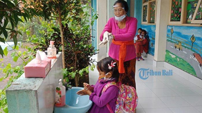 Tetap Gelar Pembelajaran Tatap Muka, TK Negeri Bangli Terapkan Sistem Sif