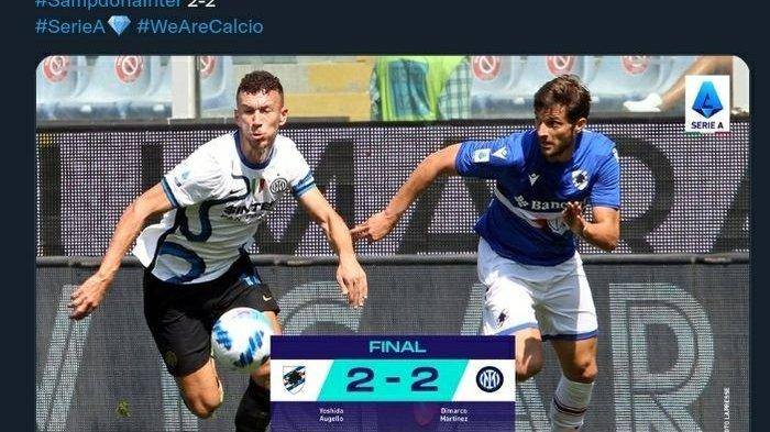 Hasil Liga Italia: Sampdoria Tahan Imbang Inter Milan, Tercipta 4 Gol