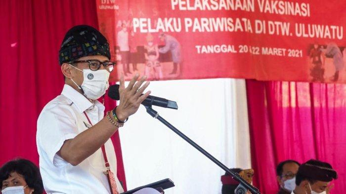 Vaksin Covid-19 di Uluwatu, Sandiaga Uno : Saya Berharap Dan Berdoa Juni Atau Juli Nanti Kita Siap
