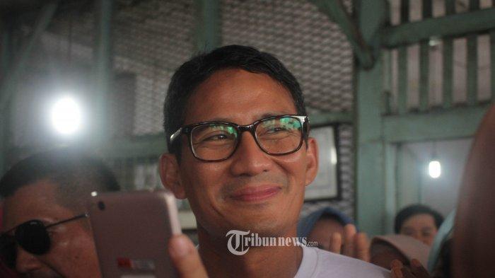 Ini Alasan Sandiaga Uno Tak Ikut Klaim Kemenangan Meski di Rumah Prabowo : 'Cegukan Terus'