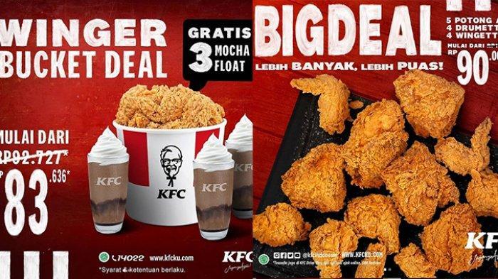 Sarapan di KFC? Nikmati Promo KFC Sabtu 27 Februari 2021 Winger Bucket & 3 Mocha Float Cuma Rp83.636