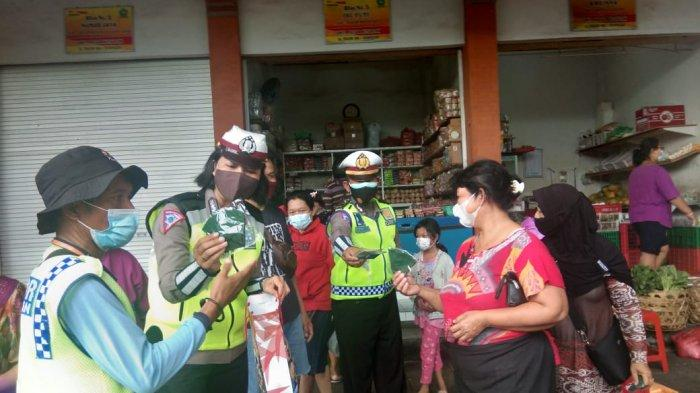 Satgas III Ops Ketupat Agung 2021 Polda Bali Gelar Sosialisasi di Pusat-pusat Keramaian Denpasar