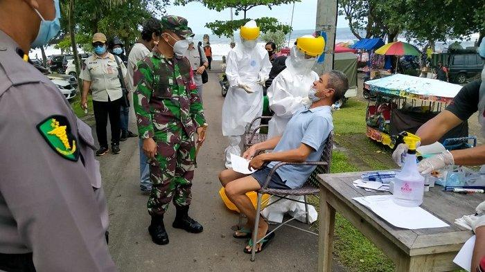 32 Orang Jalani Rapid Antigen Acak di Pantai Kedungu Tabanan Bali