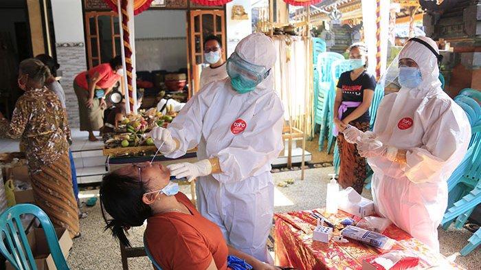 Pemkot Denpasar Bali Gelar Rapid Antigen Bagi Peserta Upacara Panca Yadnya