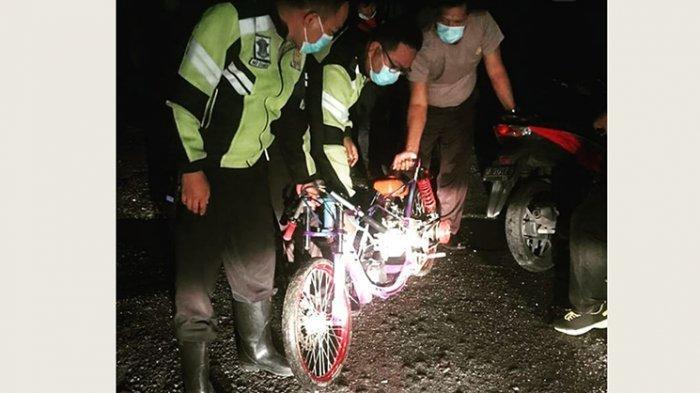 Polres Tabanan Patroli di Tiga Jalur Besar, Satu Sepeda Motor Racing Diamankan