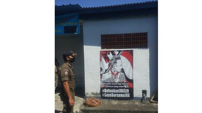 Satpol PP Klungkung Tertibkan Puluhan Baliho, Baliho Dukungan ke Jerink juga Diturunkan