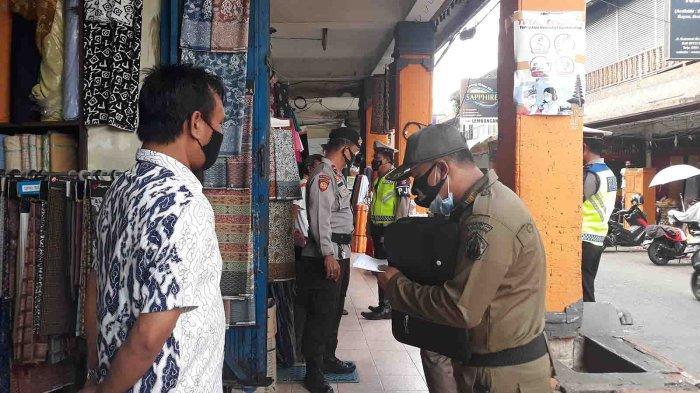 Sidak di Pasar Badung dan Jalan Sulawesi, Beberapa Pemilik Toko Tidak Menyediakan Prokes yang Layak
