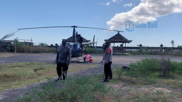 Warga Lebah Karangasem Digegerkan dengan Helikopter Mendarat Darurat, Karyawan: Dikira Bawa Bantuan