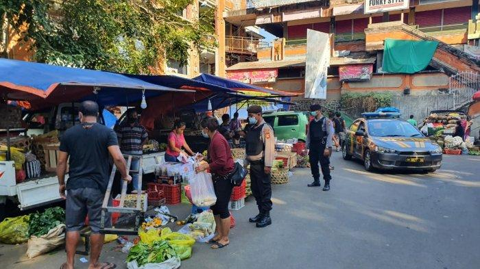 Sat Samapta Polres Tabanan Gelar Patroli Rutin Sasar Pasar di Areal Kota Tabanan