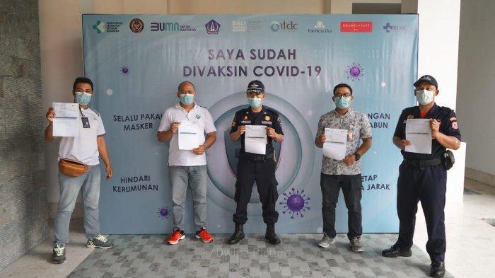 Hampir 10 Ribu Pekerja Parekraf di The Nusa Dua dan The Mandalika Telah Divaksin Covid-19