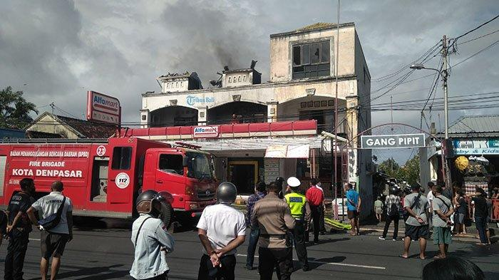 UPDATE Kebakaran Gudang Alfamart di Denpasar, Kerugian Ratusan Juta Rupiah, Penyebab Masih Didalami