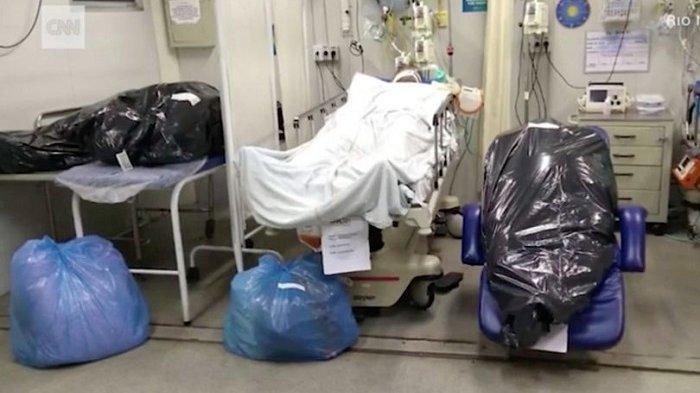 Memilukan, Mayat Pasien Covid-19 Dimasukkan ke Kantong Sampah di Rumah Sakit di Brasil