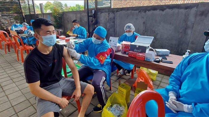 Polres Bangli Gelar Vaksinasi Covid-19 Dosis II, Kapolres: Berapapun Warga yang Datang Tetap Dapat